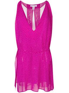 короткое платье в горошек  Christian Dior Vintage