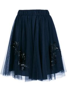 юбка с отделкой пайетками  P.A.R.O.S.H.