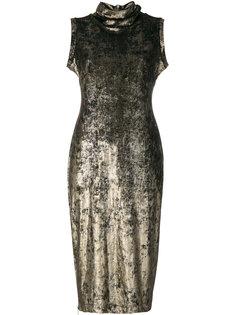 узкое платье с высоким горлышком с заворотом Antonio Marras