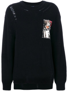 patch knitted sweater Sjyp