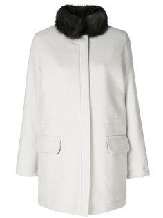 пальто с отделкой  Manzoni 24