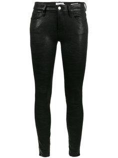 брюки из скинни из кожи ягненка Frame Denim