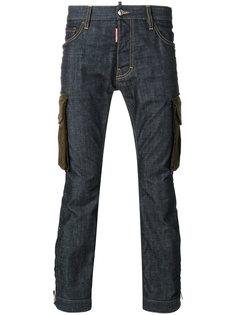 джинсы с накладными карманами Dsquared2