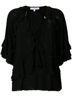 блузка с V-образной горловиной и оборками Iro