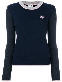 свитер с заплаткой с логотипом Kenzo