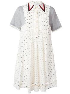 платье-рубашка с узором Coach