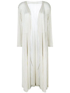 pleated long coat Pleats Please By Issey Miyake