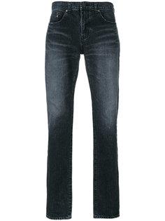 узкие джинсы с протертостями Saint Laurent