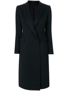 удлиненное приталенное пальто Tagliatore
