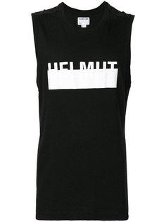 футболка без рукавов с логотипом  Helmut Lang Vintage
