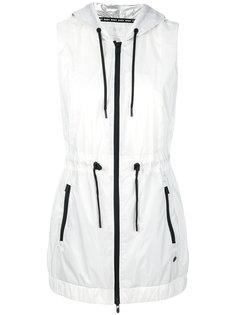 удлиненный жилет с капюшоном DKNY