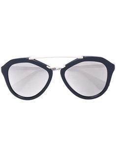 солнцезащитные очки с верхней планкой Prada Eyewear