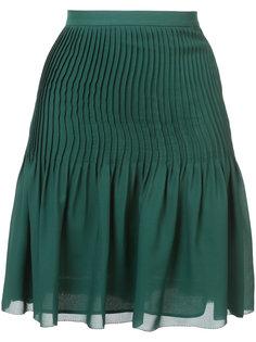 юбка со сборками Oscar de la Renta