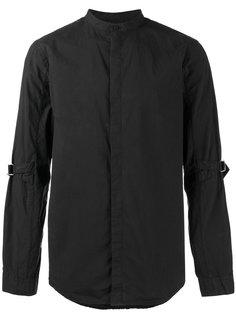 рубашка без воротника с ремешками на рукавах Helmut Lang