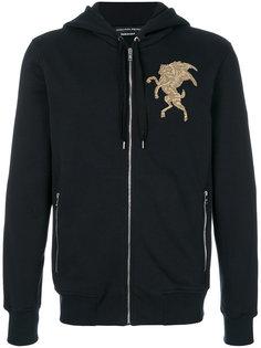 embroidered hooded sweatshirt Alexander McQueen