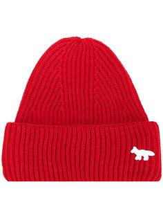 шапка в рубчик Maison Kitsuné