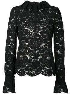 кружевная блузка с оборками на шее Philosophy Di Lorenzo Serafini