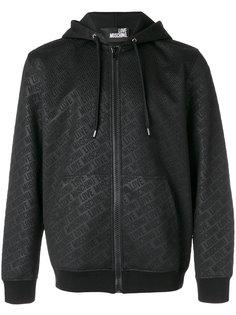 куртка на молнии с капюшоном Love Moschino