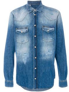 выбеленная джинсовая рубашка Dolce & Gabbana