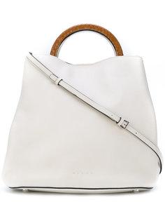сумка с контрастной ручкой Marni