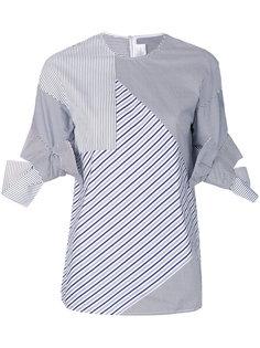 асимметричная рубашка в полоску  Victoria Victoria Beckham