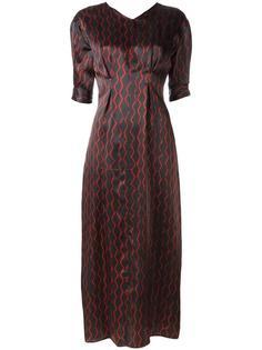 платье макси с зигзагообразным узором  Isabel Marant