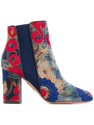 расшитые ботинки 'Kaia' Aquazzura
