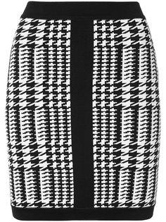 мини-юбка в ломаную клетку Balmain
