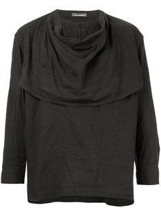 рубашка с драпировкой Issey Miyake Vintage