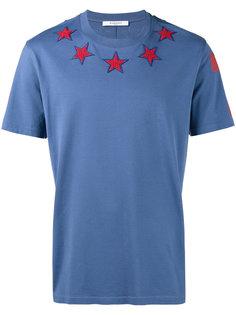 футболка с аппликацией звезд Givenchy