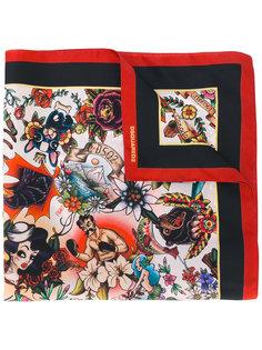 шарф с принтом  Dsquared2