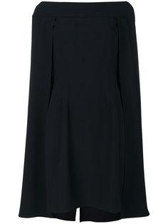 многослойное платье-кейп  Alberta Ferretti