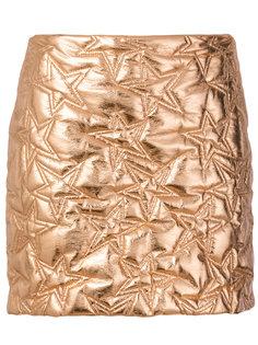 стеганая юбка со звездами  MSGM