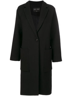 свободное однобортное пальто  Proenza Schouler