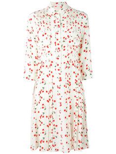 платье-рубашка с узором из вишен и плиссировками Chinti And Parker