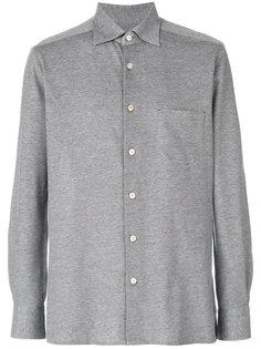 однотонная рубашка  Kiton
