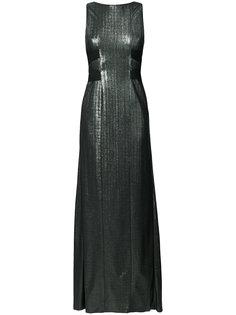 платье халтер с контрастной отделкой  Galvan