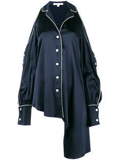 асимметричная блузка с открытыми плечами  Jonathan Simkhai