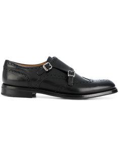 туфли с двойным ремешком в стиле монков  Churchs