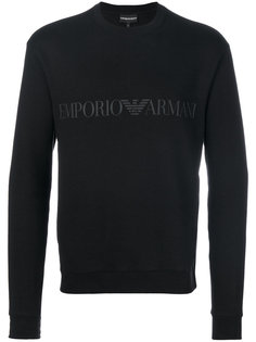 толстовка с принтом логотипа Emporio Armani