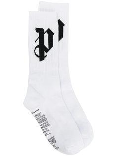 монограммные носки Palm Angels