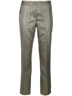 metallic straight trousers Luisa Cerano