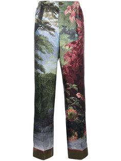 брюки с лесным принтом F.R.S For Restless Sleepers