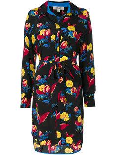платье-рубашка с цветочным принтом Diane Von Furstenberg