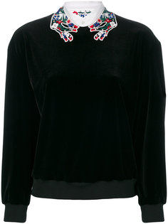 блузка с вышивкой на воротнике  Vivetta