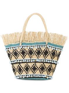 плетеная сумка с бахромой Sensi Studio