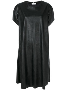 платье-футболка с эффектом кожи  Mm6 Maison Margiela