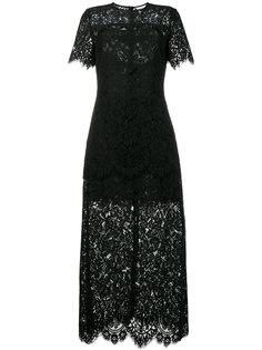 гипюровое платье длины миди Duvallace Ganni