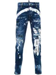 джинсы с принтом TIdy Biker Dsquared2