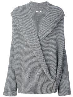 трикотажный свитер с запахом  Jil Sander